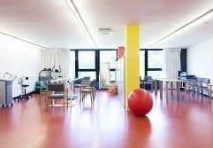 Residencia Ancianos Barcelona - Gimnasio doble residencia para la tercera edad SARquavitae Sant Jordi