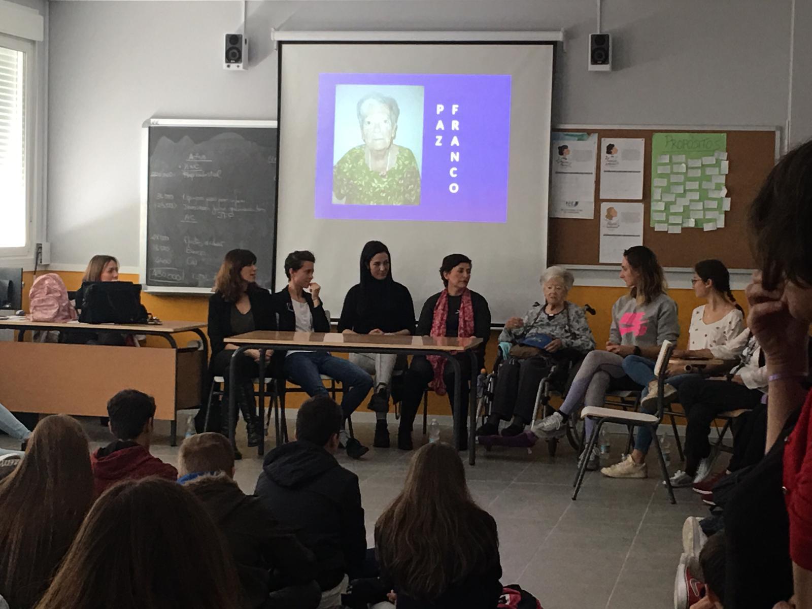 DomusVi Valdemoro dia internacional de la mujer Paz Franco