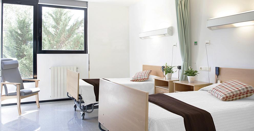 Residencia Ancianos Barcelona - Habitación doble residencia para la tercera edad SARquavitae Sant Jordi