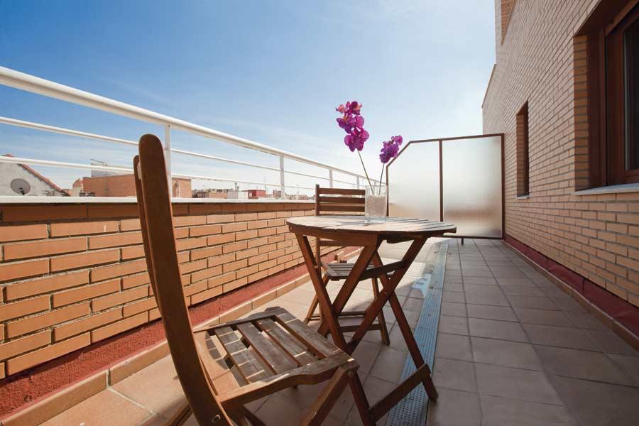 Terraza de la residencia para mayores de Madrid SARquavitae Albufera