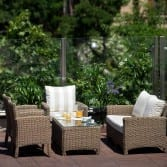 Residencia Ancianos Barcelona - Terraza exterior residencia para mayor DomusVi Bonanova