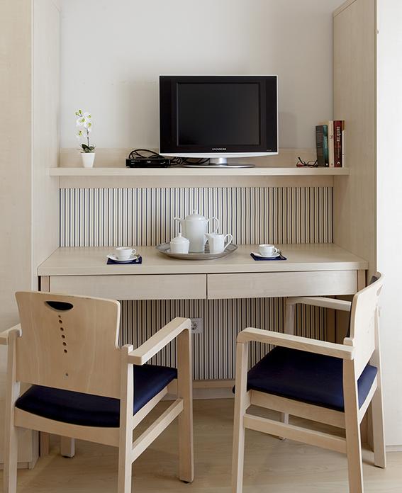 Habitación residencia tercera edad SARquavitae Can Carbonell