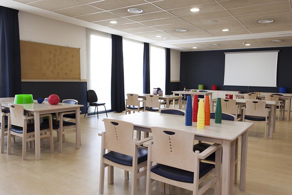 Sala de terapia residencia tercera edad SARquavitae Can Carbonell