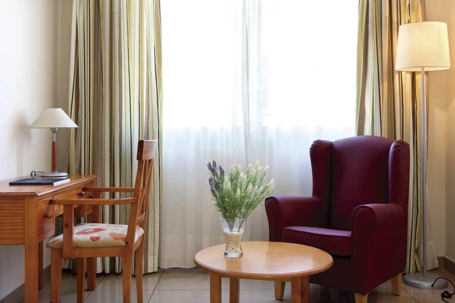 Detalle de la habitación de la residencia sociosanitaria SARquavitae Claret