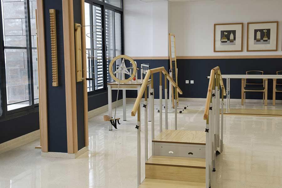 Gimnasio terapéutico de la residencia sociosanitaria SARquavitae Remedios