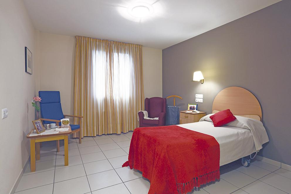 Habitación individual residencia tercera edad SARquavitae Berra