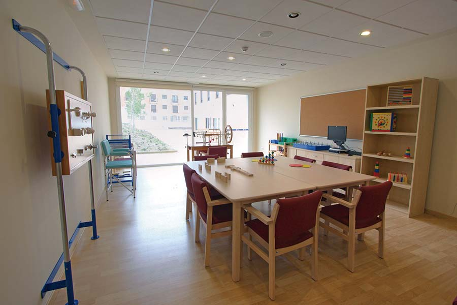Sala de terapias de la residencia de mayores SARquavitae Valdeolivas