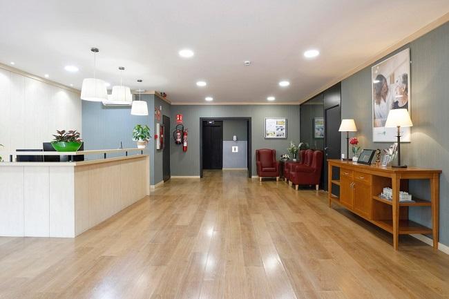 Residencia de mayores Barcelona Regina Recepción