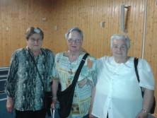 De izquierda a derecha: Doña Vicenta Soriano Sánchez, Doña Ángeles  Gonzalvo Gonzalvo y Doña Inés Peralta Fernández, todas ellas usuarias del Servicio de Teleasistencia del Ayuntamiento de Teruel