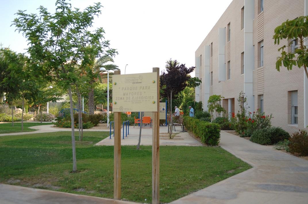 Residencia Ancianos Alicante - Jardín rehabilitación