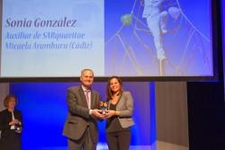 Premio a la Alegría: Sonia González, auxiliar de SARquavitae Micaela Aramburu, Cádiz.