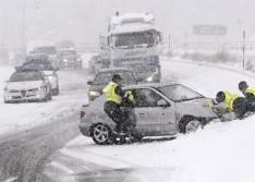 Galicia, afectada por un fuerte episodio de nieve