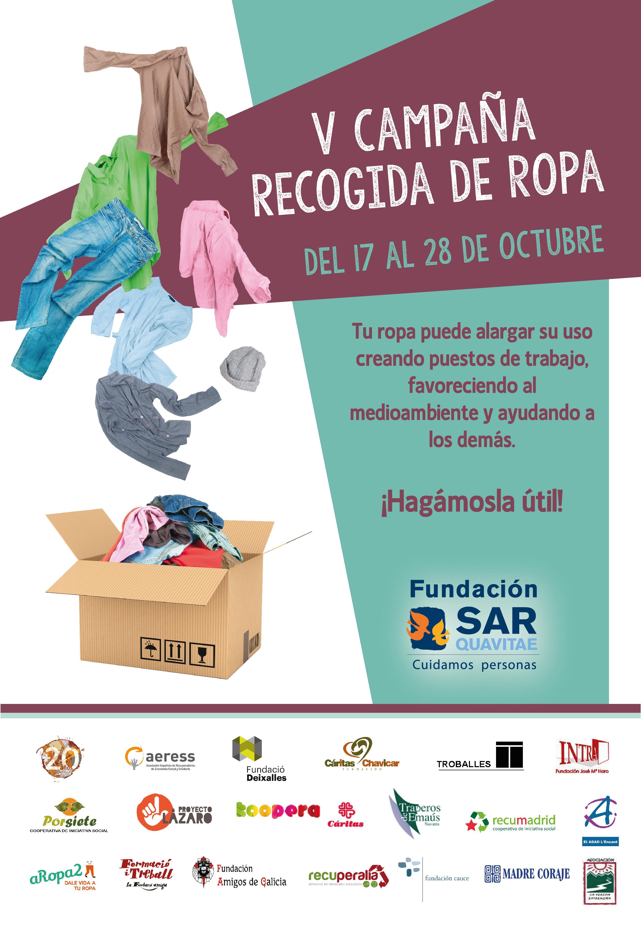 V campaña recogida de ropa