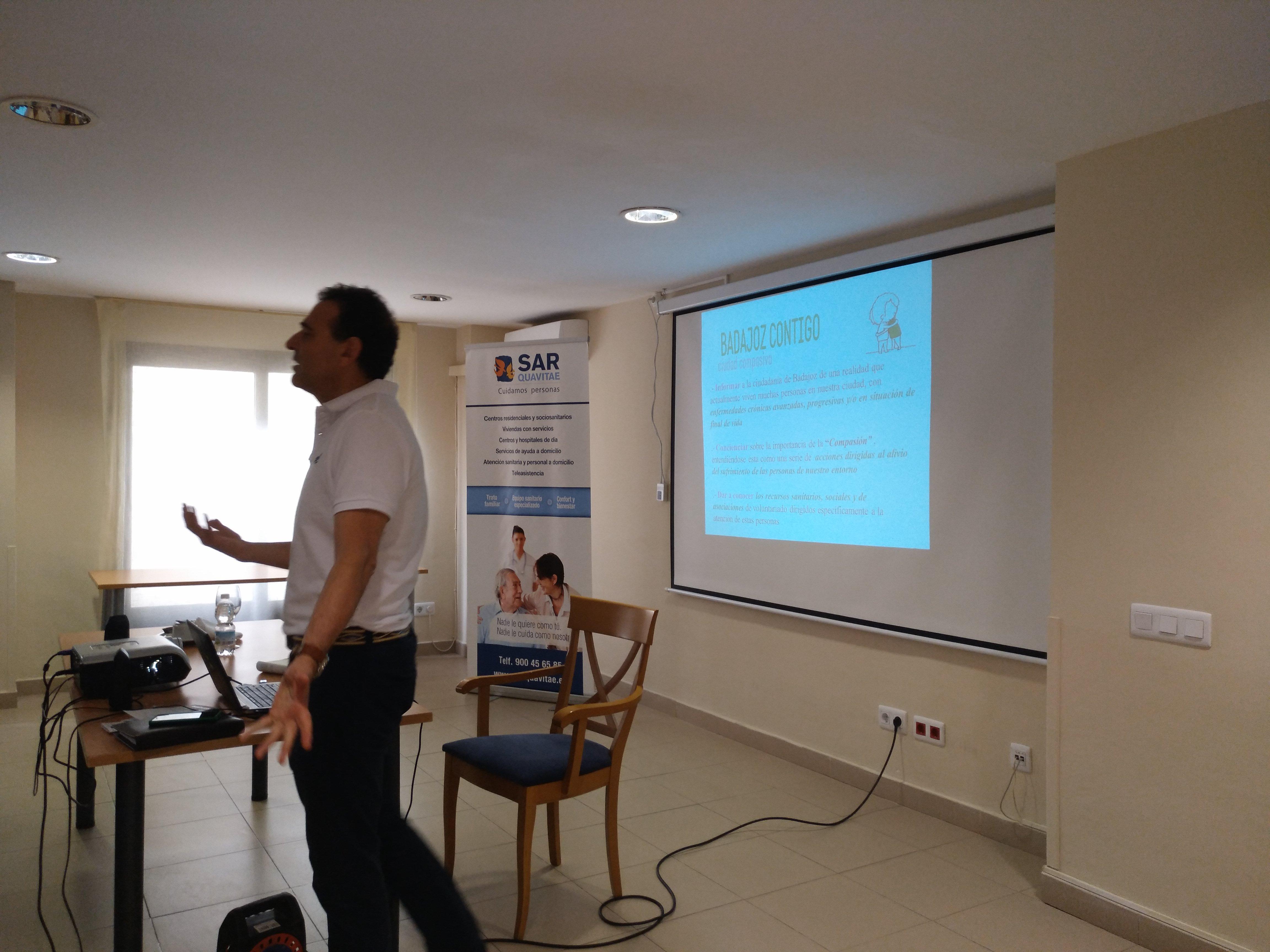 Presentación Badajoz Contigo en SARquavitae C Badajoz2