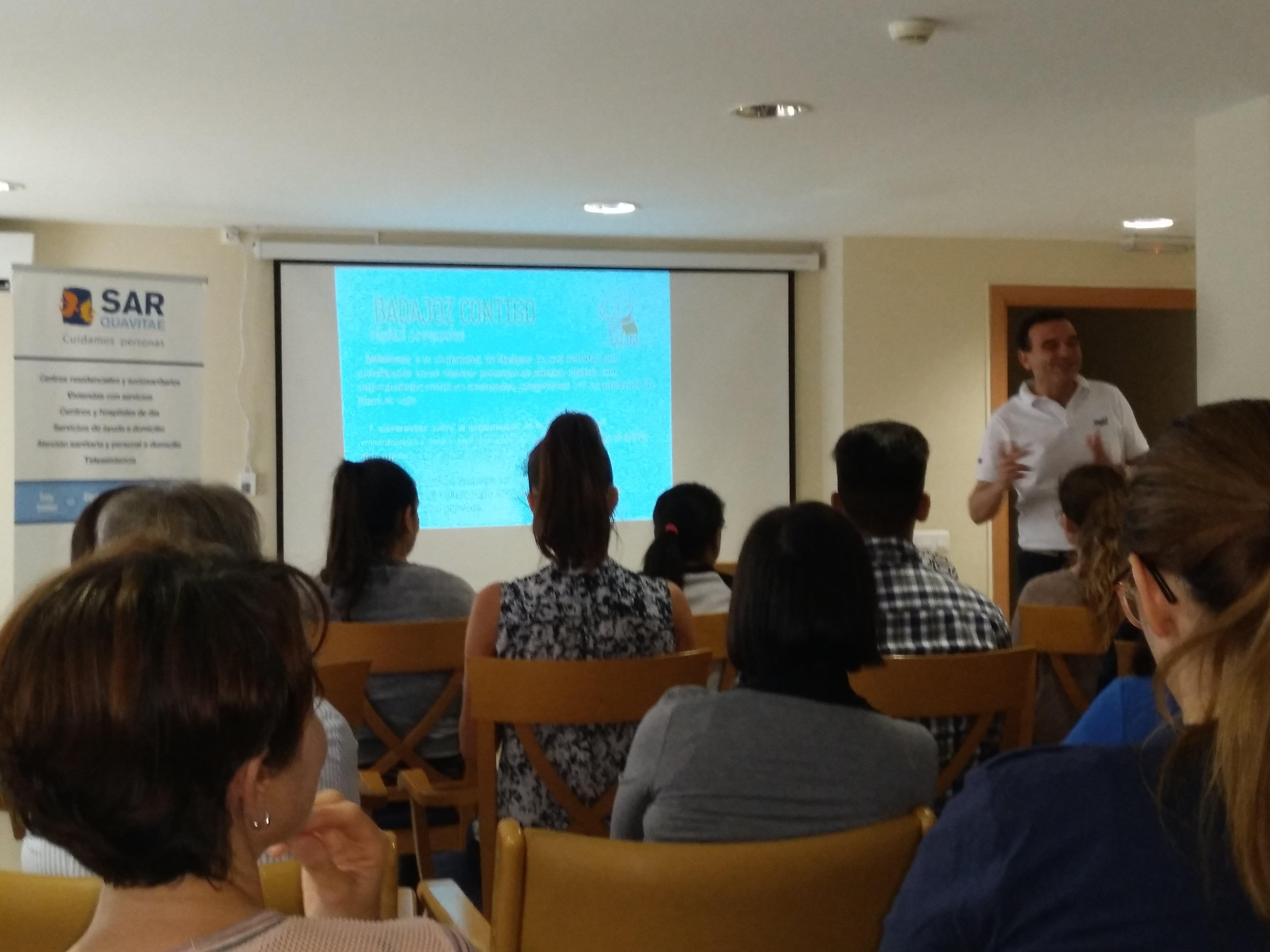 Presentación Badajoz Contigo en SARquavitae C Badajoz7