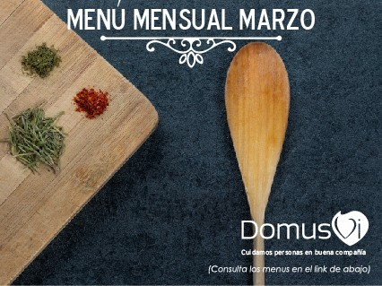 DomusVi Lalín Menú de Marzo