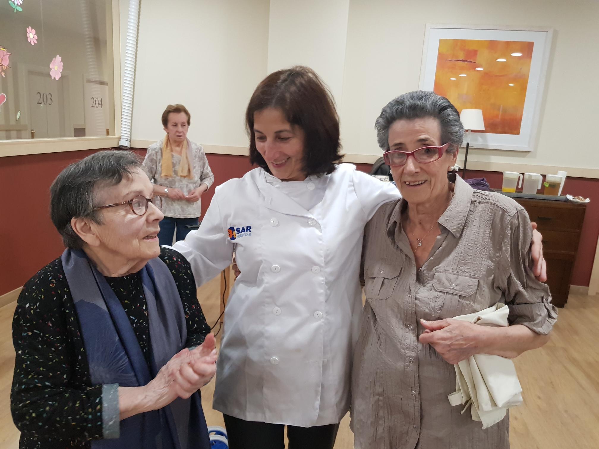 Nati con Carmela y Lolita Matogrande