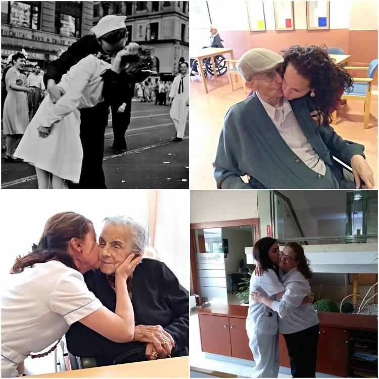 Collage Día del beso - DomusVi Babel 3