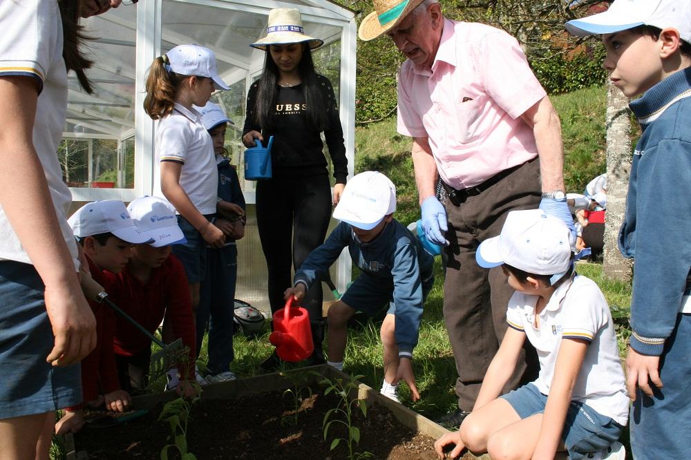 Proyecto huerto con Colegio Manuel Peleteiro