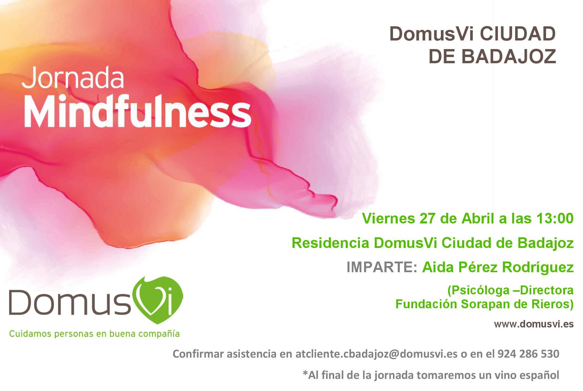 Invitación Jornada Mindfulness DomusVi Badajoz