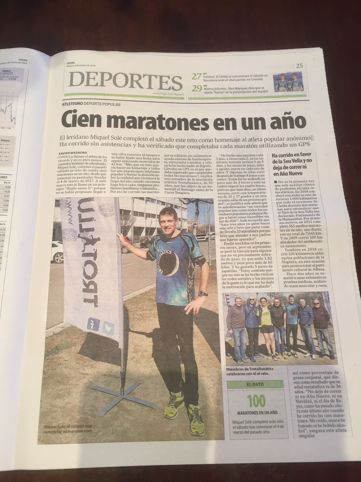 news bellavista trabajador maratoniano premio persona de Lleida (1)