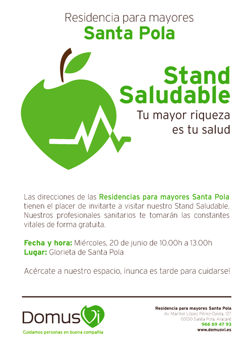 Poster Stand Saludable