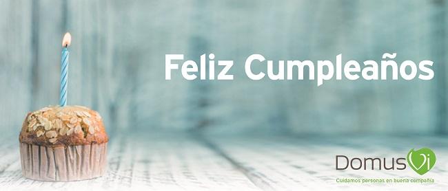 celebración cumpleaños DomusVi Santa Pola