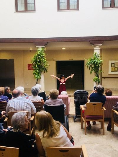 Baile Flamenco en DomusVi Condes de Corbull 1