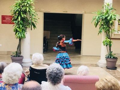 Baile Flamenco en DomusVi Condes de Corbull 3