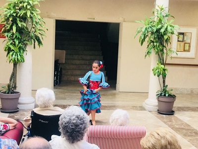Baile Flamenco en DomusVi Condes de Corbull 4