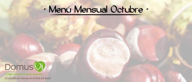 DomusVi Lalín menú Octubre