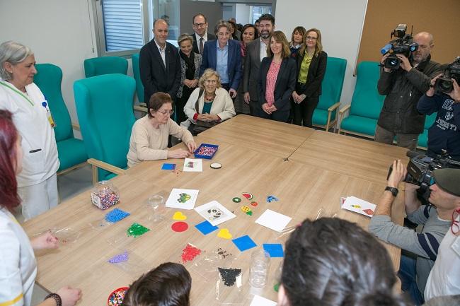 Visita Alcaldesa de Madrid al CD Gertrudis de la Fuente Valle