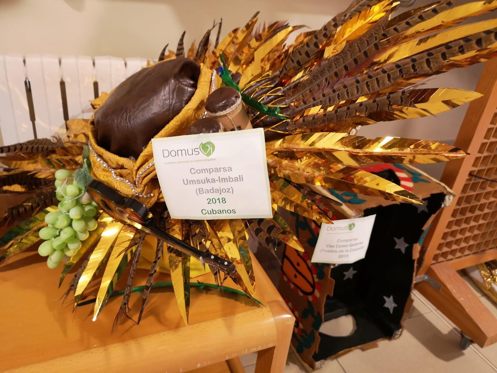 Concurso de Murgas Badajoz exposición en DomusVi Ciudad de Badajoz