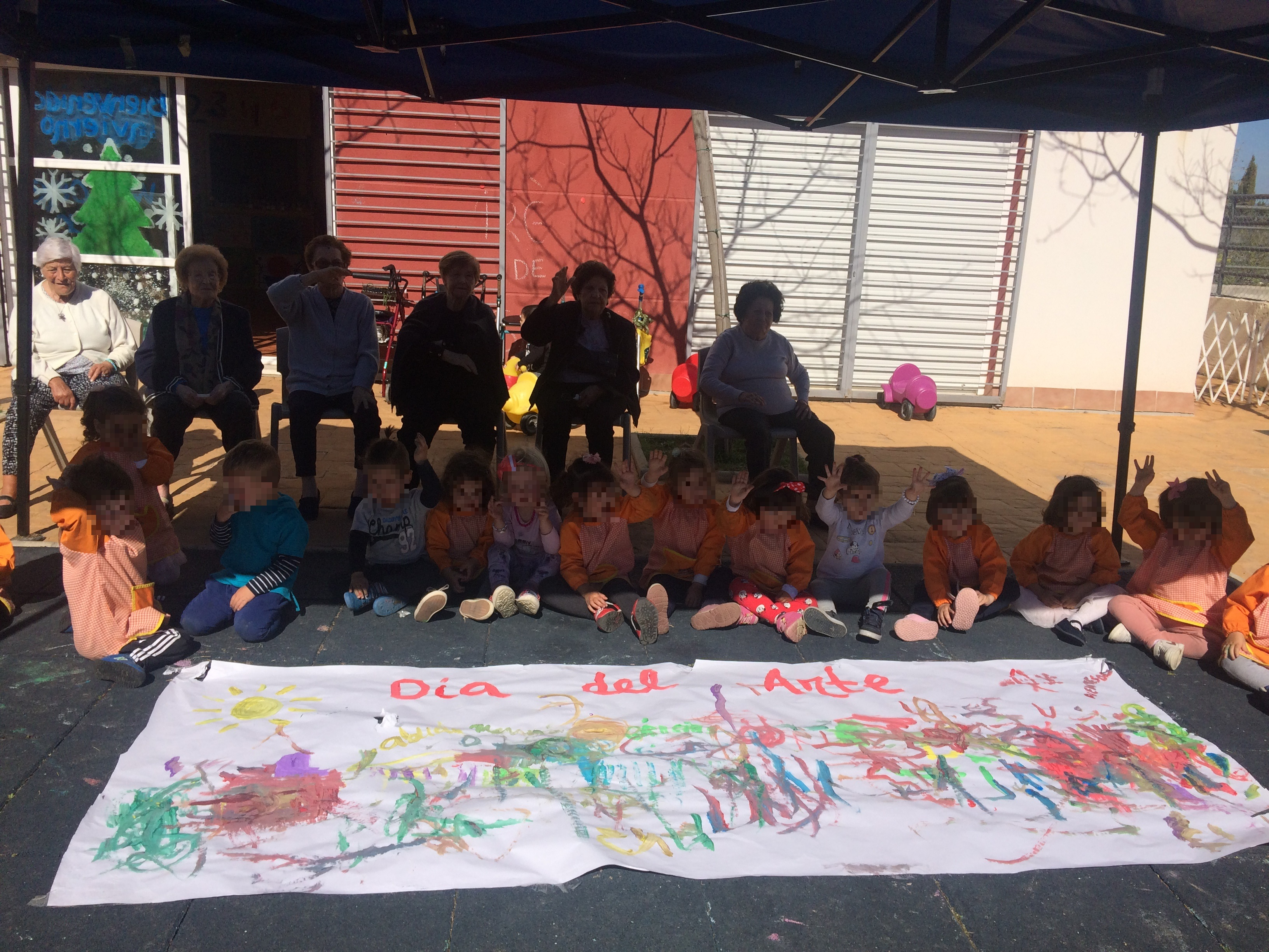 Día del arte mayores y niños