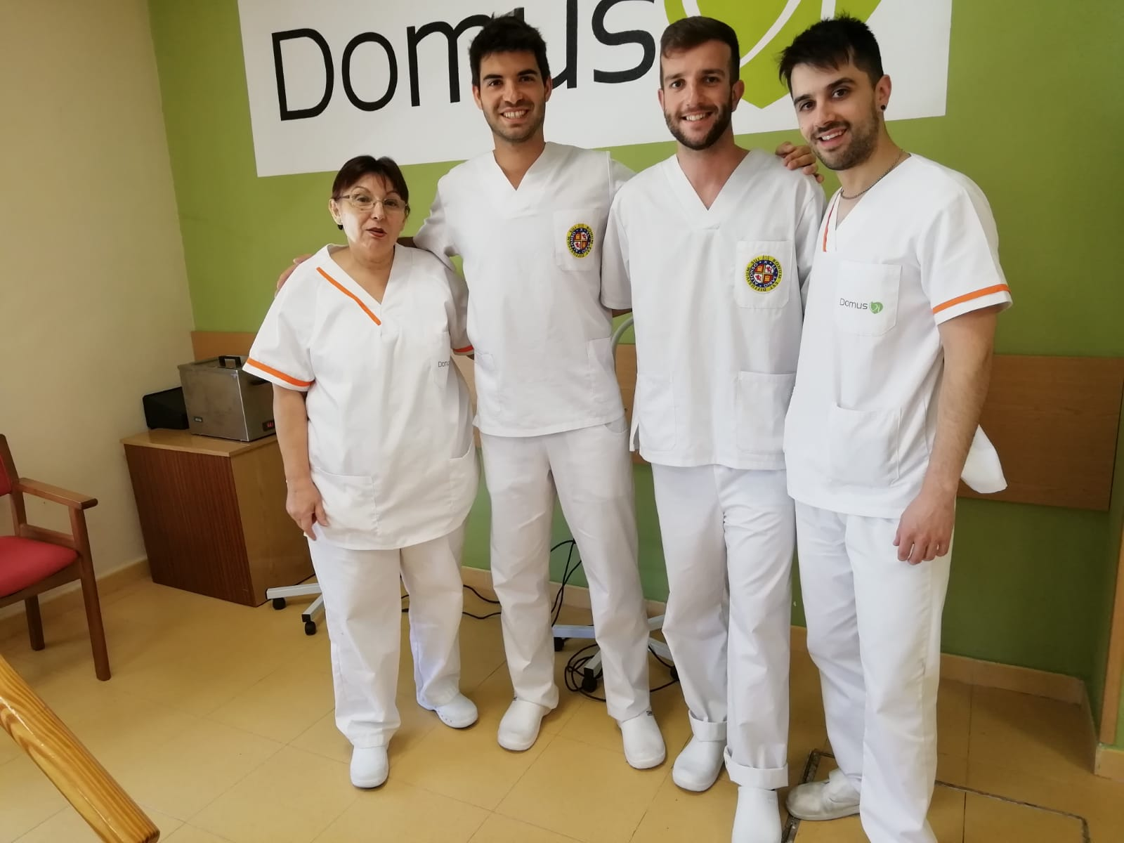 DomusVi Valdemoro finalización alumnos de prácticas