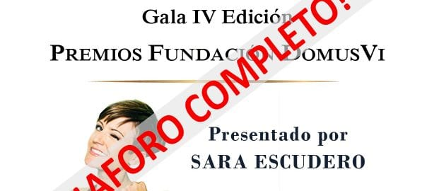 Gala IV Premios Fundación DomusVi AFORO COMPLETO