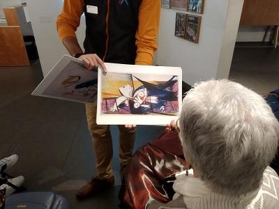 DomusVi Lugo visita exposición Guernica