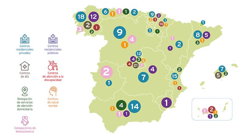 Mapa Centros